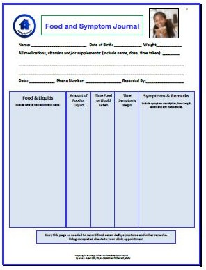 Click Image to Download the Food Allergy Symptom Journal PDF